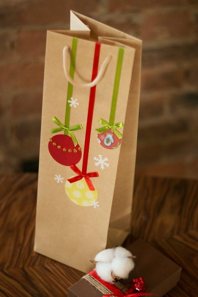 декор новогодних пакетов